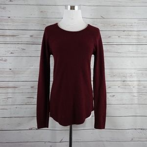 APIP MATERNITY Burgundy Crew Neck Knit Sweater